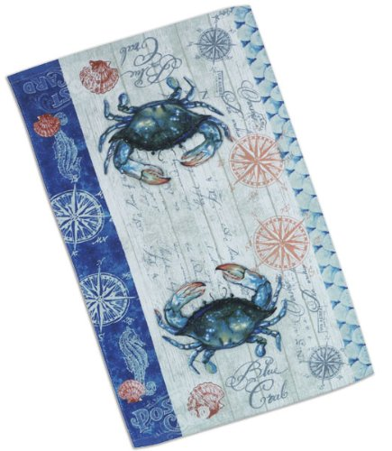 4 Piece Blue Crab Crabfest Kitchen Set - 2 Terry Towels, Oven Mitt, Potholder