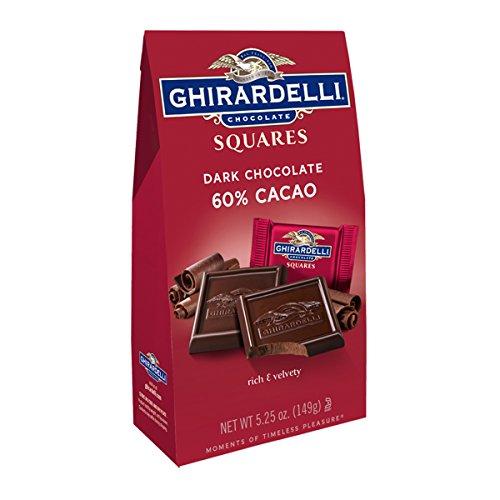 (Ghirardelli, Dark Chocolate Square Bag 60% Cacao, 5.25 oz)