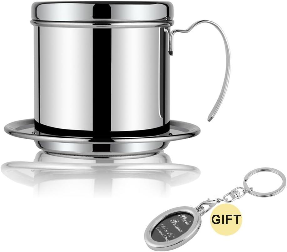 Cafetera eléctrica juego de filtros de Pot taza de goteo de acero inoxidable portátil lento servir para casa cocina oficina al aire libre viaje 9 y # xFF08; Libre Regalo Marco de