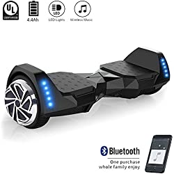 "CXM2018 Hoverboard UL 2272 Certified 6.5"" Two Wheel Electric Self Balancing Scooter with Bluetooth Speaker LED Light for Kids and Adults"