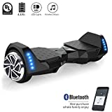 CXM2018 Self Balancing Hoverboard UL 2272 Certified 6.5″ Two Wheel Smart Electric Scooter with Bluetooth Speaker and LED Side Lights for Kids and Adults