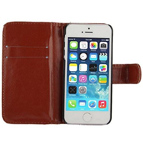 König Boutique Housse étui coque de protection Case Cover Coque bumper pour Apple iPhone se Marron Neuf