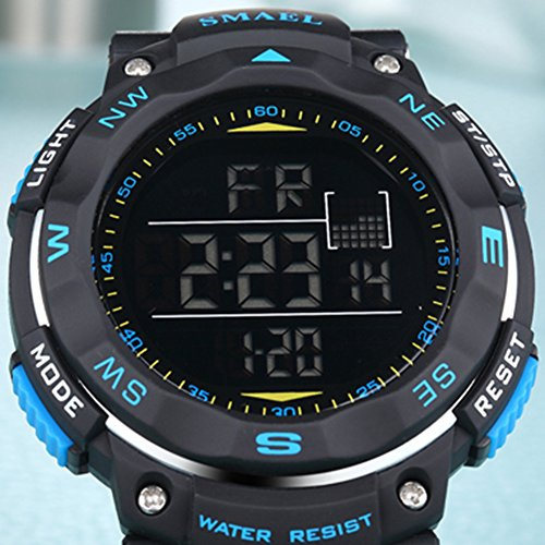 ETbotu Children LED Electronic Digital Luminous Multifunction PU Strap Waterproof Alarm Calendar watches by ETbotu (Image #4)