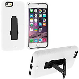 good case White / Black Heavy Duty Hybrid Hard/Soft Silicone Case Cover with Stand Accessory for Apple iphone 4 4s