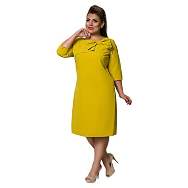 d88a7db2cdf Women s Dresses New Spring Summer Fashion Pure Color Fat Woman Large Size  Dress Red