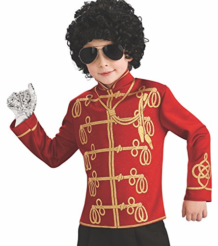 Michael Jackson Child's Value Military Jacket Costume Accessory, Medium, Red