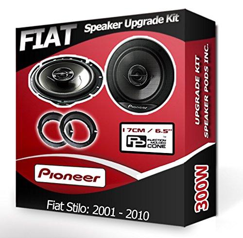 adaptateur Anneaux gousses 240/W Porte avant pour Fiat Stilo Haut-parleurs Pioneer Haut-parleurs de voiture