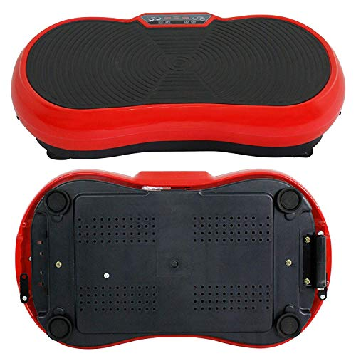 HomGarden Crazy Fitness Vibration Fit Machine Plate Platform Massager - Whole Full Body Shape Exercise Machine Workout Trainer Slim w/Bluetooth, Red by HomGarden (Image #7)