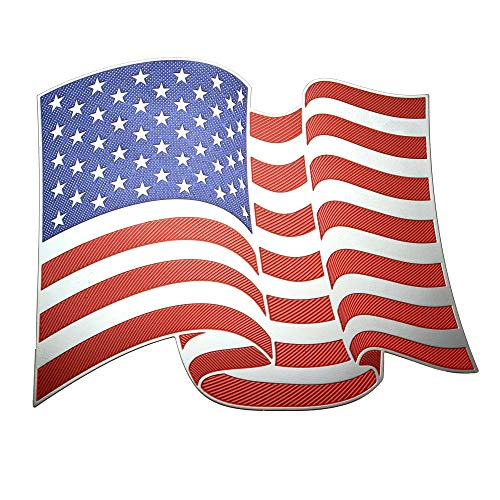 American Flag U.S.A. Metal Decal Sticker for Indoor or Outdoor Use on Laptops, Cars, Notebooks, Folders, Scrapbooking, Decor