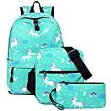 Student Backpack for Girl Teen Bookbag Casual Daypack Lightweight School Bag Set
