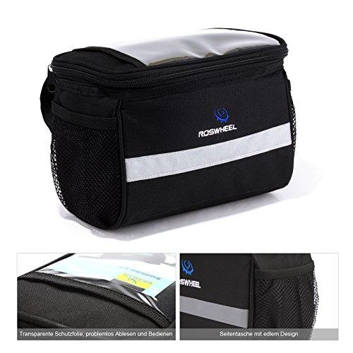 ROSWHEEL Fahrrad Tasche Rahmentasche Handytasche für Handy/Musikeinstellung