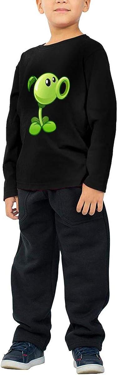 GongCZL Hip Hop Plants Vs Zombies Peashooter Shirt for Baby Boys Girls Black