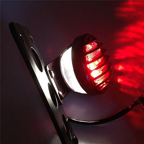 Motor Side Mount License Bracket LED Tail Light for Custom Bobber Chopper Sportster XL by SMT-MOTO