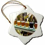 3dRose orn_89683_1 Beers, Waimea Brewery, Kauai, Hawaii US12 DPB1151 Douglas Peebles Snowflake Porcelain Ornament, 3-Inch