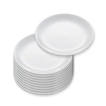 10er SET Teller rund 15 cm White Basics ROUND von Maxwell /& Williams