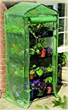 """Gardman 7610 4-Tier Greenhouse with Reinforced Cover, 18"""" Long x 27"""" Wide x 63"""" High"""