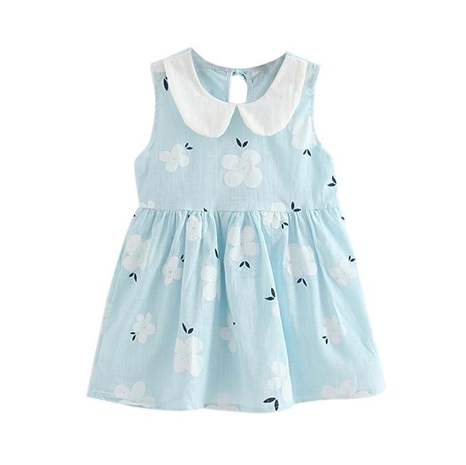 Amazon.com: Caliente. yang-yi moda para niñas verano vestido ...