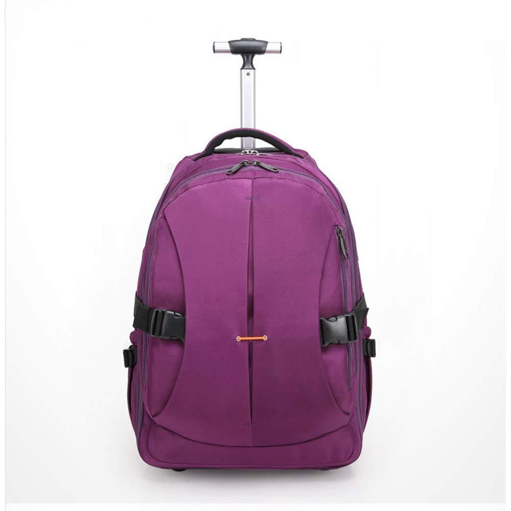 トロリーバックパックフライト認定手荷物スーツケース、ラップトップコンパートメント付きビジネストロリーケース、ハンドバッグが一体化されたキャビン付き超軽量トラベルキャリー。 B07KMYM4MS Purple 21in