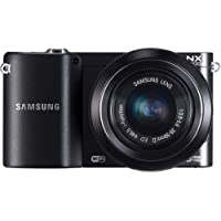 Samsung NX1000 Mirrorless Digital Camera with 20-50mm Lens, 20.3MP (Black)