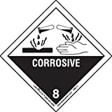Labelmaster HML13 Corrosive Worded Label, Paper, Hazmat, 4'' x 4'' (Pack of 500)
