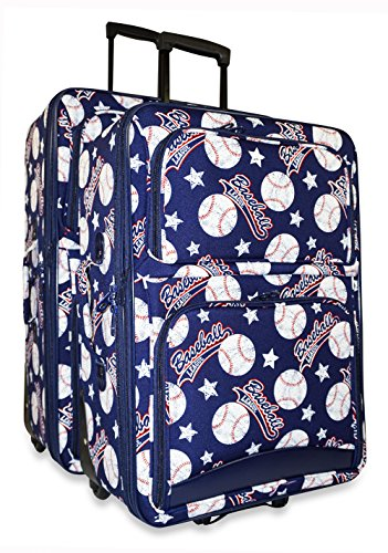 Ever Moda Baseball 2-Piece Luggage Set by Ever Moda