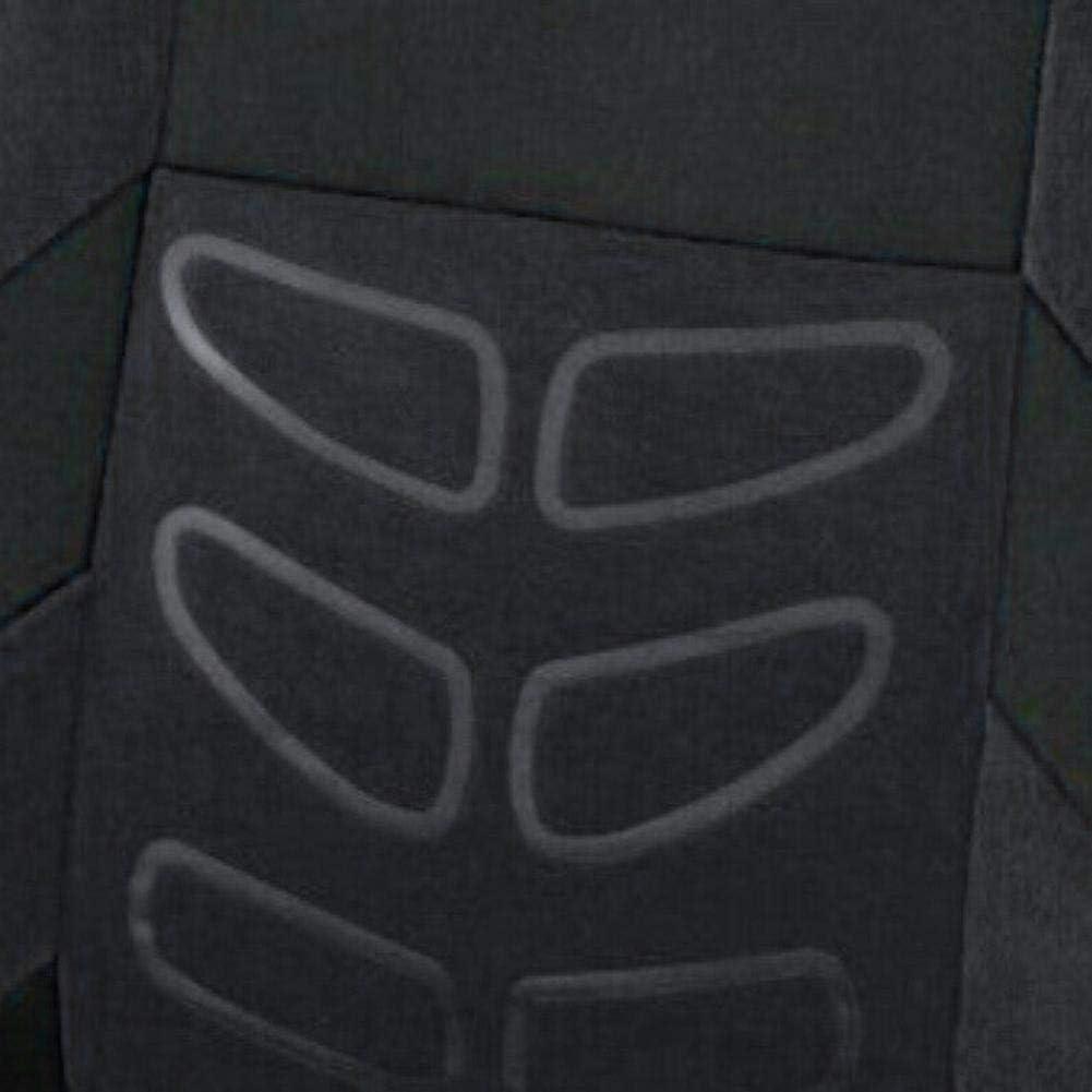 Demiawaking 9pcs Ensemble de Housses Si/ège Auto Universel Housses de Sieges Voiture Couvre Sieges pour Avant et Arri/ère Couverture Protection de Si/ège pour Cinq Si/èges Noir Rouge