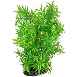 Uxcell Aquarium Lanceolate Leaves Aquatic Plant, 15-Inch, Green