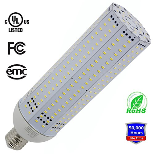 150W LED Corn Light Bulb, 5000K Daylight White, 19500LM, Large Mogul E39 Base, JESLED LED Corn Light Replacement for Metal Halide Bulb, HID, CFL, HPS UL Listed