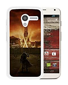 fallout city light character sky White Motorola Moto X Screen Phone Case Cool and Custom Design