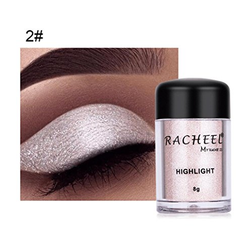 Sparkly Loose Powder EyeShadow, Keepfit Fashion Cosmetics Makeup Glitter Gold and Silver Eye Shadow Pigment for Women (B)