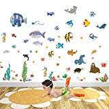 IARTTOP Ocean Fish Wall Decal Under The Sea Peel