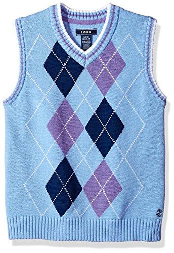 (Izod boys V-Neck Sweater Vest, Purple,)