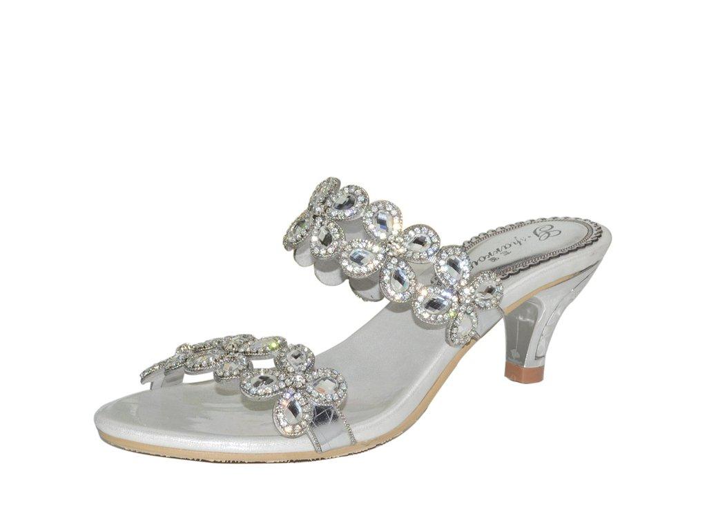 Meijili - Zapatos con tacón mujer 38|plata