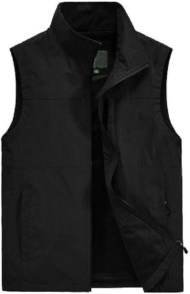 Mens Vest Summer Sleeveless Vest Spring and Autumn Leisure Travel Vest Outdoor Thin Vest Vest Mens Clothes Large Size