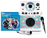 Singing Machine SML385BTW Top Loading CDG Karaoke System with Bluetooth, Sound and Disco Light Show (White) and Dynamic Microphone with 10 Ft. Cord with Frozen