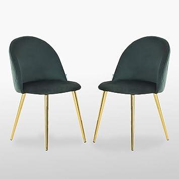   For Dining Room Dressing Table etc Emerald Green Living Room   Upholstered P/&N Homewares/® Lucia Velvet Chair Gold Legs Bedroom
