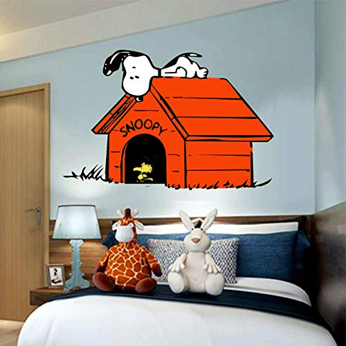 Snoopy Charlie brown Woodstock 3D Window View Decal Graphic WALL STICKER Art Mural 18