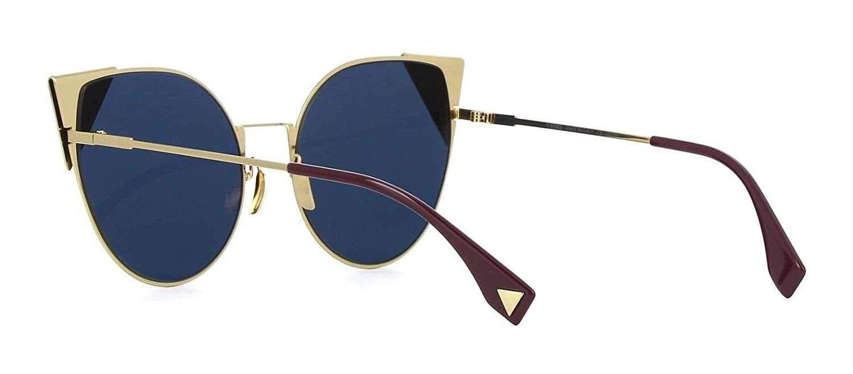 7c1817bdbb57 Authentic Fendi LEI FF 0190 S 000 A9 gold blue Sunglasses  Amazon.co.uk   Clothing