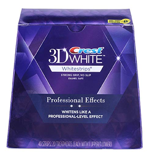 Crest 3D White Professional Effects Whitestrips Teeth Whitening Kit, 20 Treatments (Packaging may...