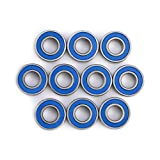 10pcs MR115-2RSMini Ball Bearings Bearing Steel Double-Shielded Replacement Parts Bearings Kit 5x11x4mm