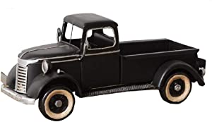 AHD Vintage Antique Metal Truck Decorative Farmhouse Box Plant Holder (Black)