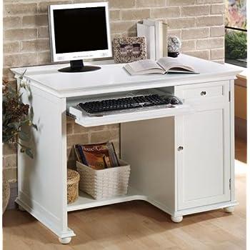 Hampton Bay 42 Inch White Computer Desk, 42