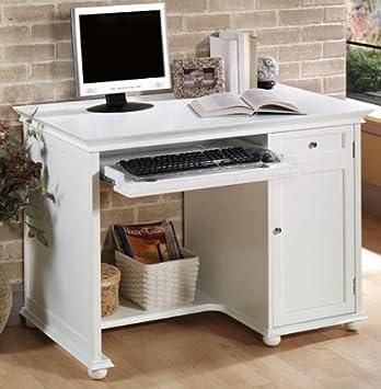 Hampton Bay 42 Inch White Computer Desk, ...