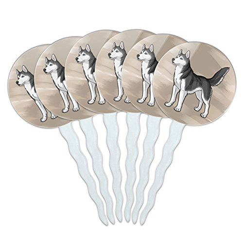 Cupcake Picks Toppers Decoration Puppy