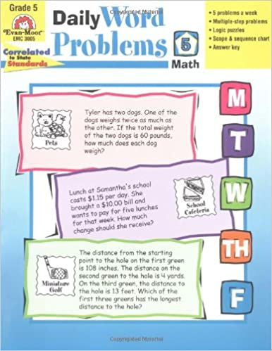 Amazon.com: Daily Word Problems, Grade 5 (0023472030054): Evan ...