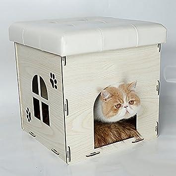 Camada de gato Extraíble Mascota Gato] Casa] Casa gato Jerarquía de almacenamiento Jaula de