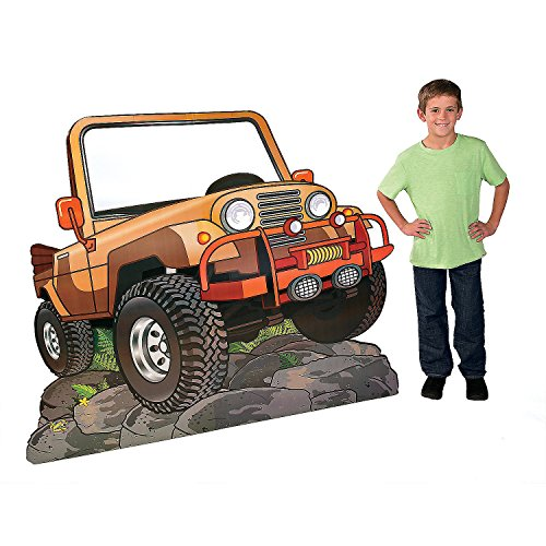 Fun Express - Walk His Way Jeep Stand Up(ag) - Party Decor - Large Decor - Floor Stand Ups - 1 Piece