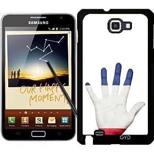 Funda para Samsung Galaxy Note GT-N7000 (I9220) - Bandera De Francés En La Mano by Grab My Art