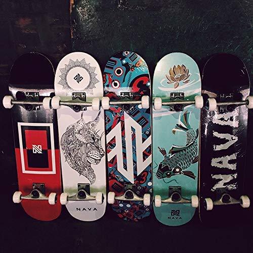 Kurzes Brett-Skateboard, männliche und weibliche Studenten Studenten Studenten Anfänger Junge Leute bürsten die Straße Vierrad-Autobahn doppelt verzogenes Tanzbrett 787mm (Farbe   F) B07Q17MFCW Longboards Heißer Verkauf 52c093