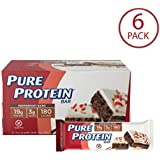 Pure Protein Bars, Healthy Low Carb Snacks, Peppermint Bark, 1.76 oz, 6 Count
